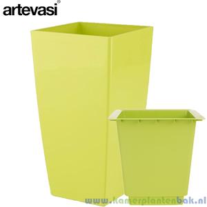 Artevasi Piza groen + inzetbak