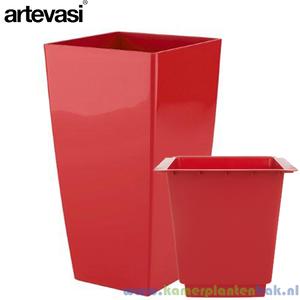 Artevasi Piza rood + inzetbak